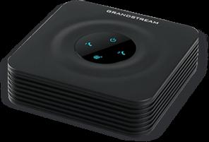 Adaptador de telefone Analógico ATA Grandstream 2 portas FXS 2 Perfis SIP 1 porta 10/100 Mbps HT802 preto